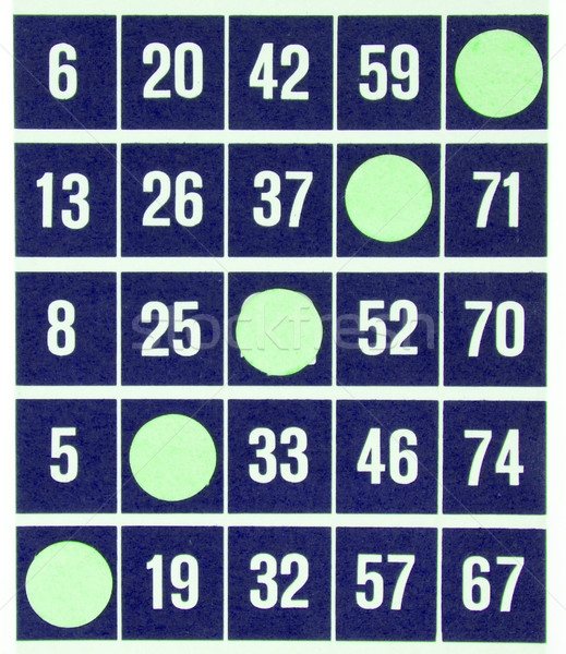 Blue bingo card isolated Stock photo © michaklootwijk