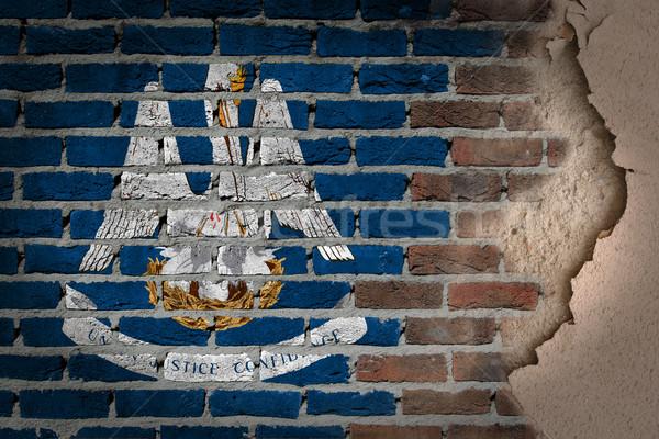 Dark brick wall with plaster - Louisiana Stock photo © michaklootwijk