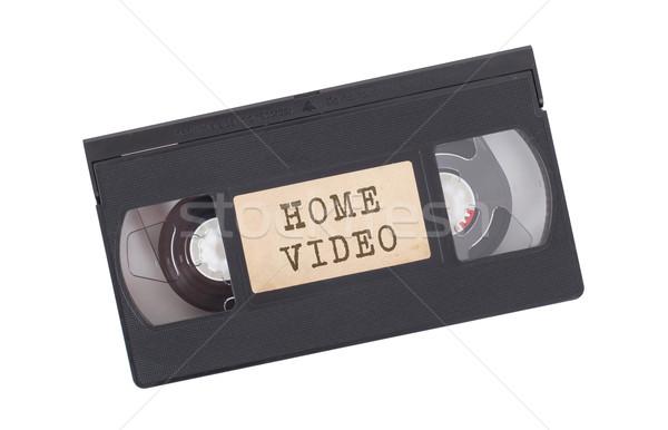 Retro izolált fehér otthon videó televízió Stock fotó © michaklootwijk
