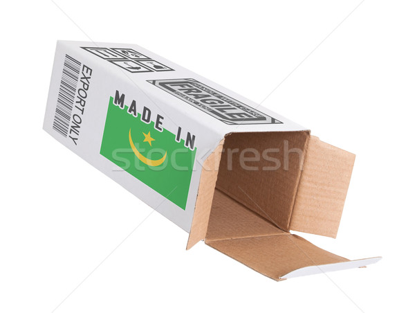 Concept of export - Product of Mauritania Stock photo © michaklootwijk