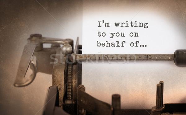 Close-up of a vintage typewriter Stock photo © michaklootwijk