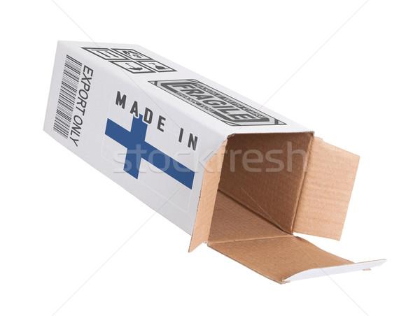Foto stock: Exportar · produto · Finlândia · papel · caixa