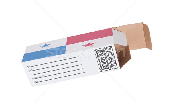 エクスポート 製品 パナマ 紙 ボックス ストックフォト © michaklootwijk