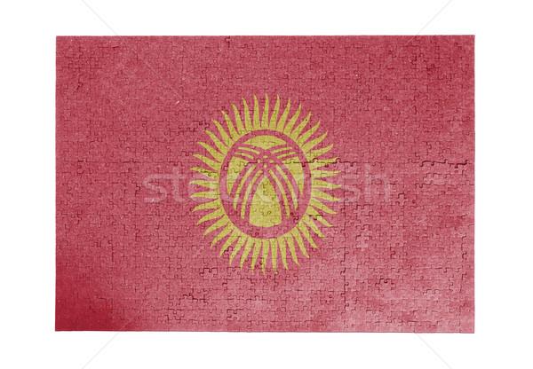 Büyük 1000 parçalar Kırgızistan bayrak Stok fotoğraf © michaklootwijk