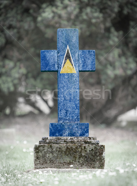 Gravestone in the cemetery - Saint Lucia Stock photo © michaklootwijk
