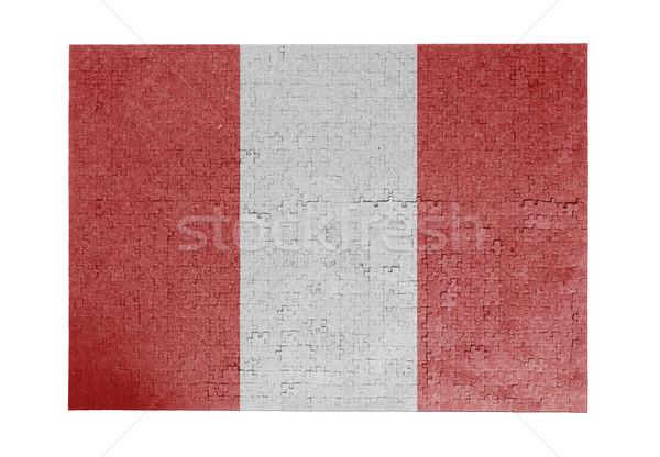Grande 1000 peças Peru bandeira Foto stock © michaklootwijk