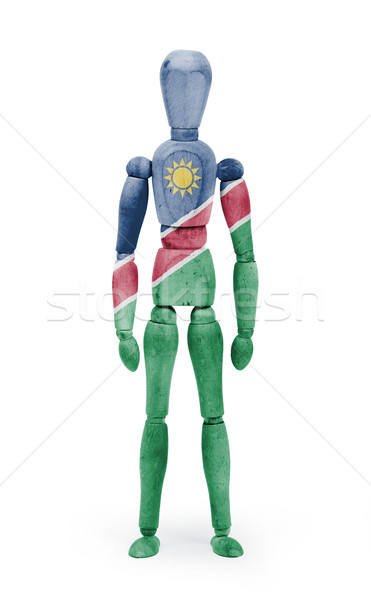 Wood figure mannequin with flag bodypaint - Namibia Stock photo © michaklootwijk