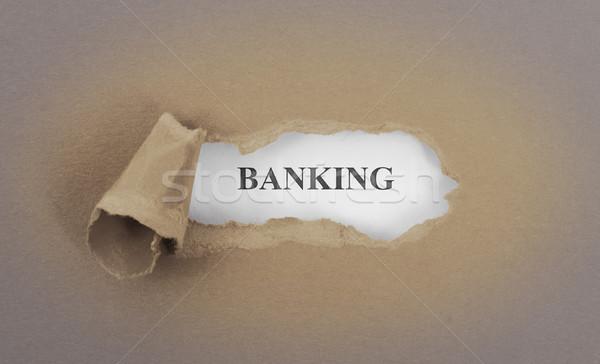 Szöveg mögött szakadt barna igazság bankügylet Stock fotó © michaklootwijk