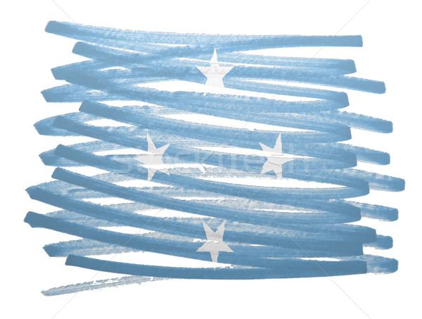 Bandeira ilustração Micronésia caneta negócio pintar Foto stock © michaklootwijk