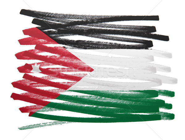Banderą ilustracja Jordania pióro działalności farby Zdjęcia stock © michaklootwijk