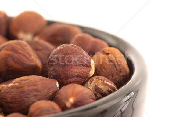 Hazelnuts in a bowl Stock photo © michaklootwijk