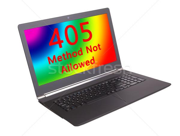 Http estado código método não permitido Foto stock © michaklootwijk