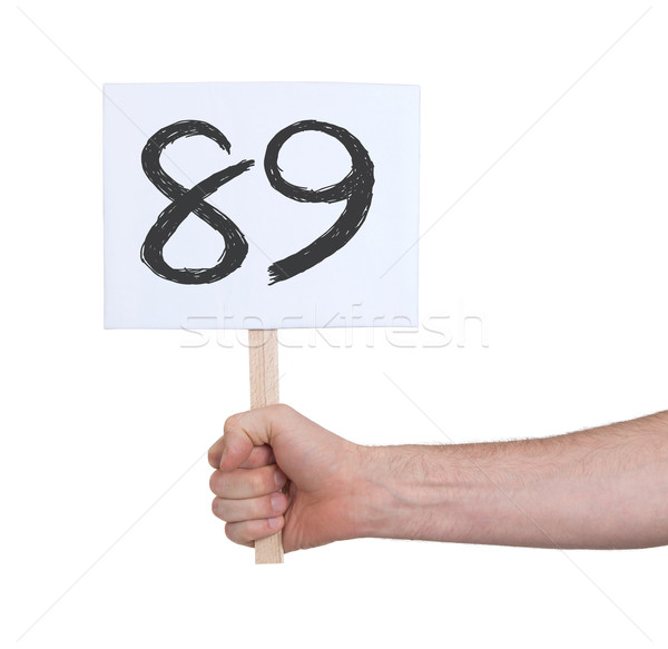 Sign with a number, 89 Stock photo © michaklootwijk