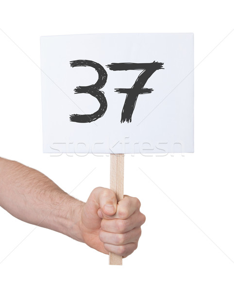 Sign with a number, 37 Stock photo © michaklootwijk
