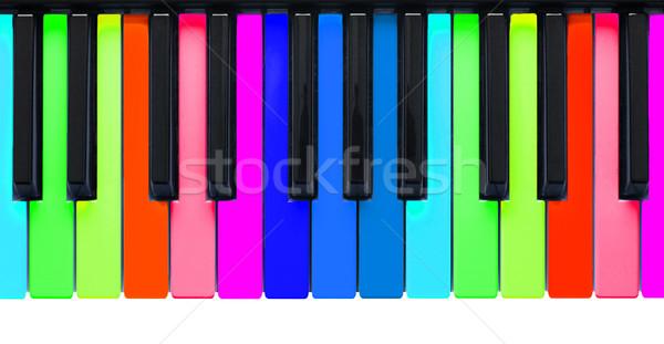 Rainbow piano keys Stock photo © michaklootwijk