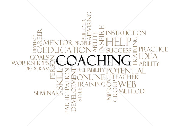 Coaching concept related words Stock photo © michaklootwijk