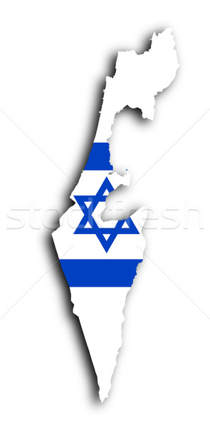 İsrail harita bayrak içinde yalıtılmış doku Stok fotoğraf © michaklootwijk
