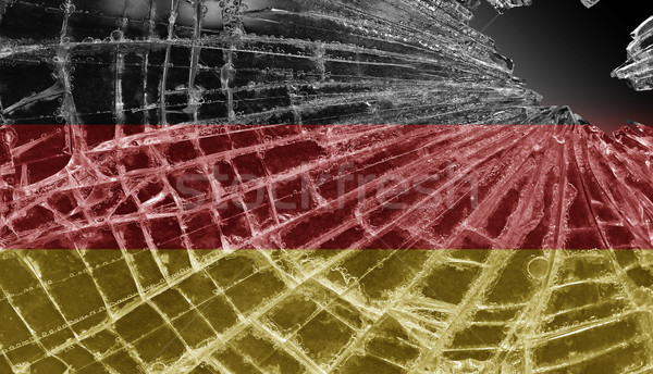 Broken ice or glass with a flag pattern, Germany Stock photo © michaklootwijk
