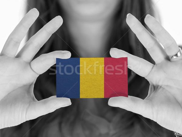 Mujer tarjeta de visita blanco negro Rumania espacio Foto stock © michaklootwijk