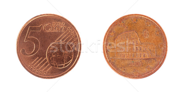 Stock photo: 5 euro cent coin