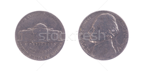 The Thomas Jefferson head Nickel Stock photo © michaklootwijk