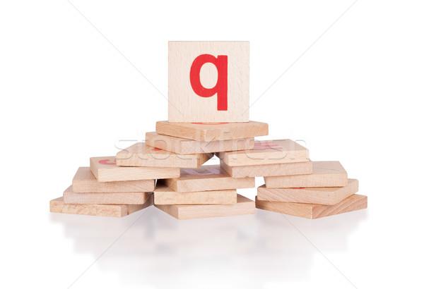 Alphabet - letter Q Stock photo © michaklootwijk