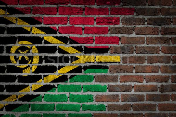 Escuro parede de tijolos Vanuatu textura bandeira pintado Foto stock © michaklootwijk