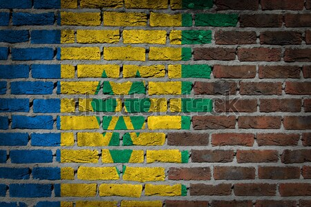 Dark brick wall - LGBT rights - Gabon Stock photo © michaklootwijk