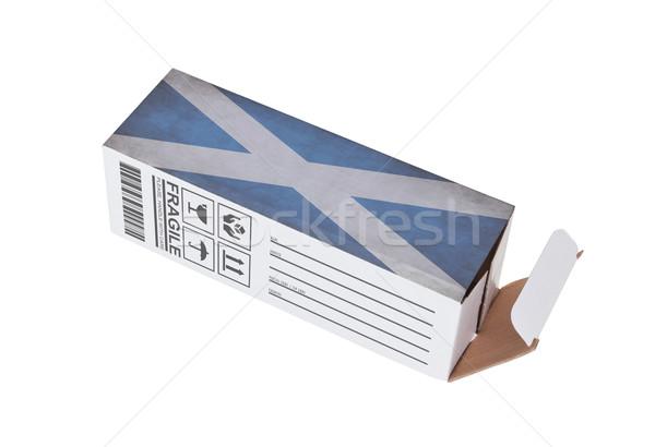 Exporteren product Schotland papier vak Stockfoto © michaklootwijk