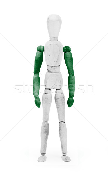 Wood figure mannequin with flag bodypaint - Nigeria Stock photo © michaklootwijk