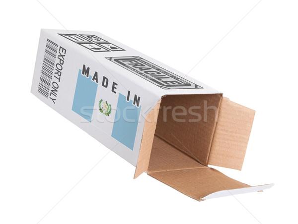 экспорт продукт Гватемала бумаги окна Сток-фото © michaklootwijk