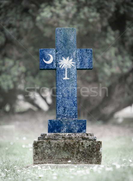 Stock photo: Gravestone in the cemetery - South Carolina