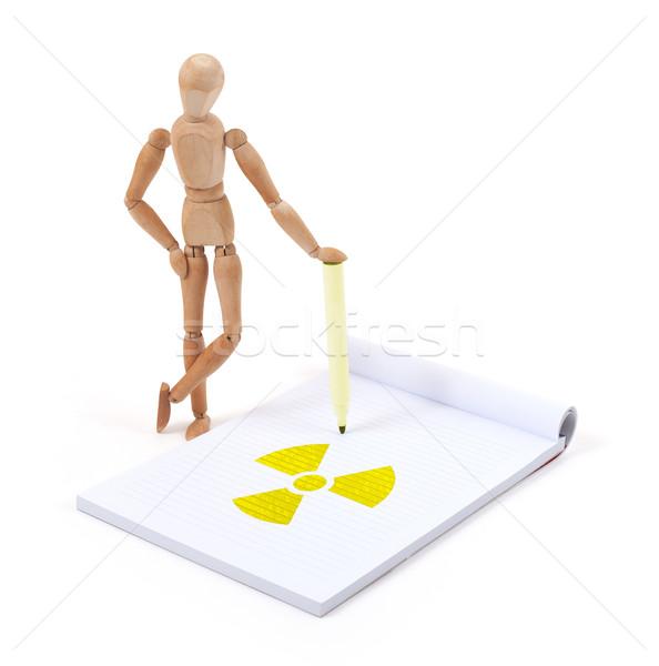 Manequim escrita radioativo recados negócio Foto stock © michaklootwijk
