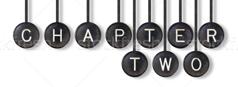 Stock photo: Typewriter buttons, isolated - Chapter two