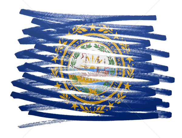 Bayrak örnek New Hampshire kalem iş boya Stok fotoğraf © michaklootwijk