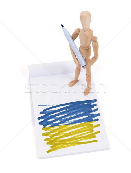 манекен рисунок Украина флаг бумаги Сток-фото © michaklootwijk