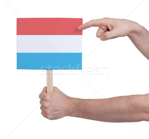 Strony mały karty banderą Luksemburg Zdjęcia stock © michaklootwijk