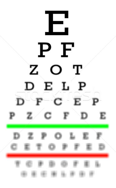 Сток-фото: зрение · хорошие · испытание · диаграммы · письма · очки