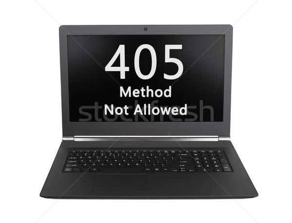 HTTP Status code - 405, Method Not Allowed Stock photo © michaklootwijk