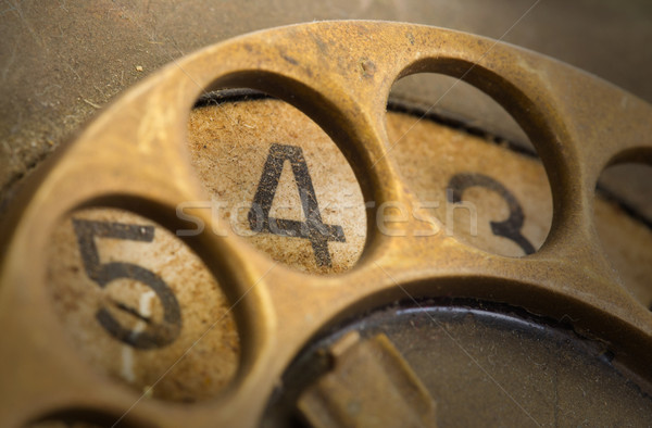 Close up of Vintage phone dial - 4 Stock photo © michaklootwijk