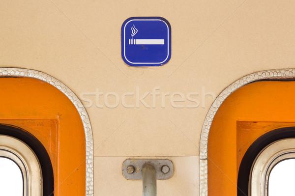 Dohányzás felirat öreg vonat fuvar közelkép Stock fotó © michaklootwijk