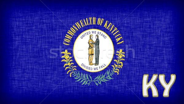 Stock photo: Linen flag of the US state of Kentucky