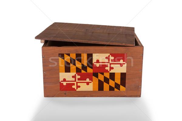 Fából készült láda izolált fehér termék Maryland Stock fotó © michaklootwijk