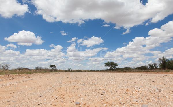 Kavicsút Namíbia sivatag égbolt hegy napfelkelte Stock fotó © michaklootwijk