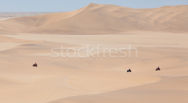 Quad tour in the desert in the Namib desert Stock photo © michaklootwijk