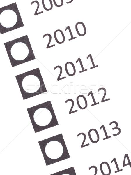 Vazio votação forma data isolado branco Foto stock © michaklootwijk