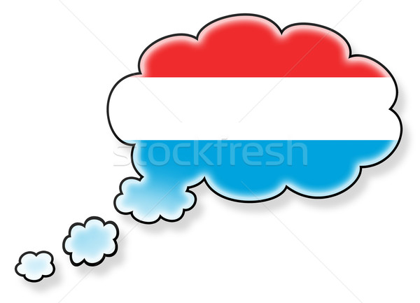 Stockfoto: Vlag · wolk · geïsoleerd · witte · Luxemburg · kunst