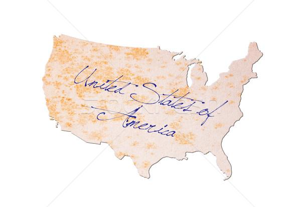 USA vieux papier écriture bleu encre papier Photo stock © michaklootwijk