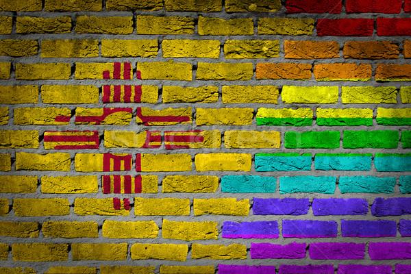 Donkere muur rechten New Mexico textuur vlag Stockfoto © michaklootwijk