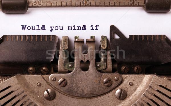 Klasszikus felirat öreg írógép elme absztrakt Stock fotó © michaklootwijk